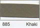 25mm Bias Binding - Khaki