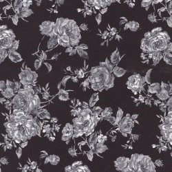 Vintage Flowers - Black