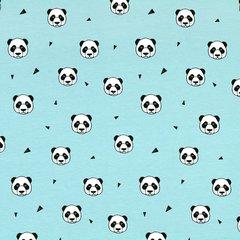 0.50mtr Remnant - Pandas Blue Jersey