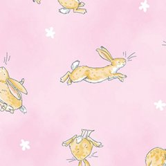 Clothworks - Guess How Much I Love You - Rabbits - Pink