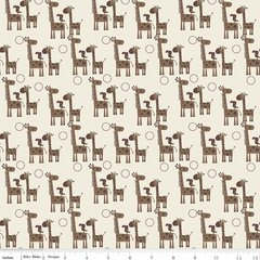 Riley Blake - Giraffe Crossing 2 - Giraffes - Brown