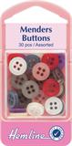 Mender Buttons: Assorted Colours - 30pcs