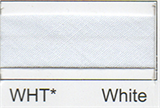 25mm Bias Binding - White