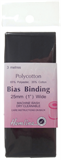 Polycotton Bias Bindings: Black - 25mm