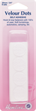 Hook & Loop Dots: Stick-On: 8 sets of 20mm: White (Velcro)
