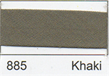25mm Bias Binding - Khaki