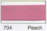25mm Bias Binding - Peach