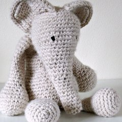 Tuesday Crochet evening workshops - Amigurumi Elephant (6 sessions) Tuesday evenings