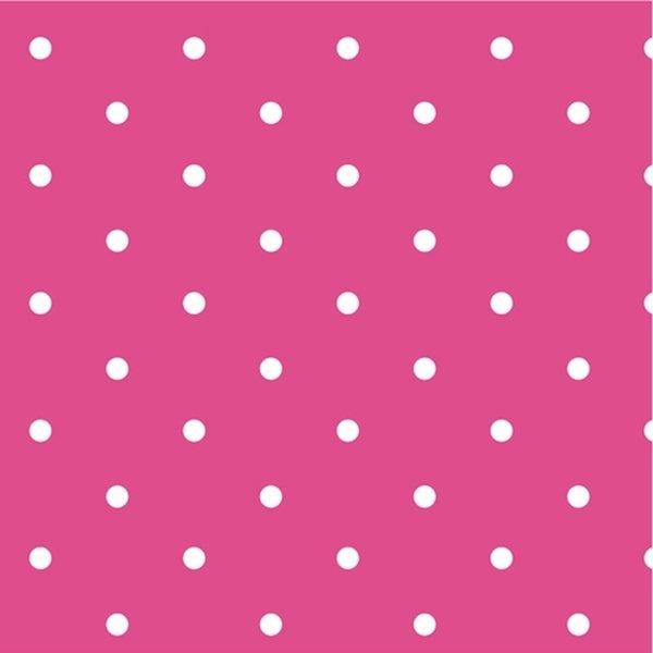 Oilcloth - Dotty - Hot Pink