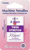 Twin Stretch Machine Needles - 75/11 - 2.5mm