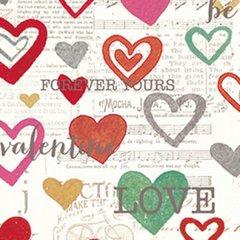Clothworks - Vintage Valentine - Forever hearts