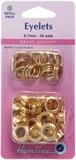 Eyelets Refill Pack: Gold/Brass - 8.7mm