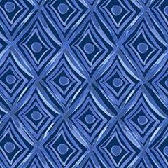 Clothworks - Blue Porcelain - Diamonds - Blue