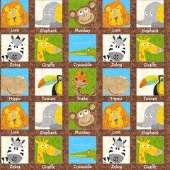 Blank Quilting - Safari Expedition - Animals In Squares