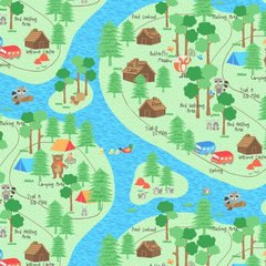 Blank Quilting - Camping Club - Trail Map