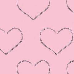 Clothworks - Chocoholics - Hearts - Pink