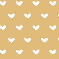 Clothworks - Vintage Valentine - Hearts - Tan