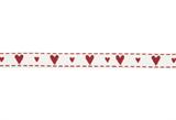 Grosgrain Ribbon : 5m x 10mm: Hearts & Kisses