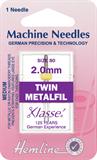 Metalfil Twin Machine Needles - 80/12 - 2mm