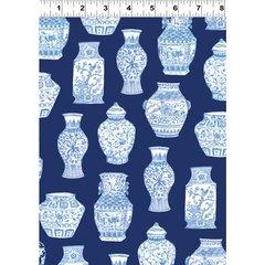 Clothworks - Blue Porcelain - Pottery - Dark Blue