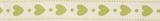 Natural Ribbon : 5m x 15mm: Hearts: Lime Green