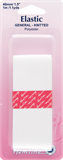 General Purpose Knitted Elastic: White - 1m x 40mm