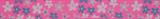 Grosgrain Ribbon : 5m x 15mm: Flowers: Pink