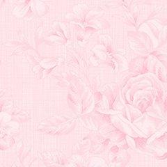 Clothworks - Emma's Garden - Floral - Light Pink