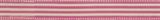 Natural Ribbon : 5m x 15mm: Stripes: Pink