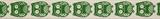 Natural Ribbon : 5m x 15mm: Owls: Green