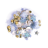 Sequins: Mixed: Silver and Gold: 20g