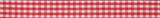 Gingham Ribbon : 5m x 15mm: Red