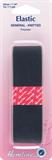 General Purpose Knitted Elastic: Black - 1m x 32mm