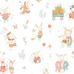 Studio E - Bunny Tales - Bunnies at play - White