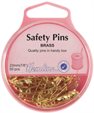 Safety Pins: Brass - 23mm - 50pcs