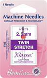 Twin Stretch Machine Needles - 75/11 - 2.5mm