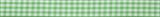 Gingham Ribbon : 5m x 15mm: Green