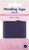 Iron-On Mending Tape: Navy - 100cm x 38mm