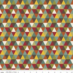 0.57mtr Remnant - Riley Blake - Giraffe Crossing 2 - Diamond - Multi