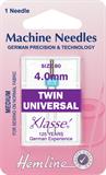 Twin Universal Machine Needles - 80/12 - 4mm