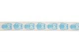 Natural Ribbon : 5m x 15mm: Owls: Blue