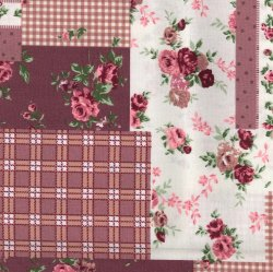 Overlap Patchwork - Dusky Pink