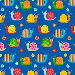 Blank Quilting - Backyard Buzz - Snail - Blue