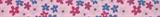 Grosgrain Ribbon : 5m x 15mm: Flowers: Light Pink