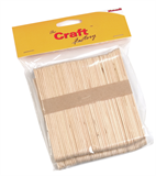 Wooden Sticks: Natural: Pack of 100