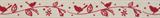 Natural Ribbon : 5m x 15mm: Bird Garland: Red