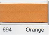 25mm Bias Binding - Orange
