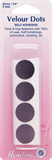 Hook & Loop Dots: Stick-On: 8 sets of 20mm: Black (Velcro)