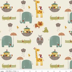0.51mtr Remnant - Riley Blake - Giraffe Crossing 2 - Main - Cream