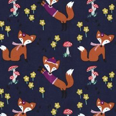 Michael Miller - Fox woods - Lil' foxy - Navy